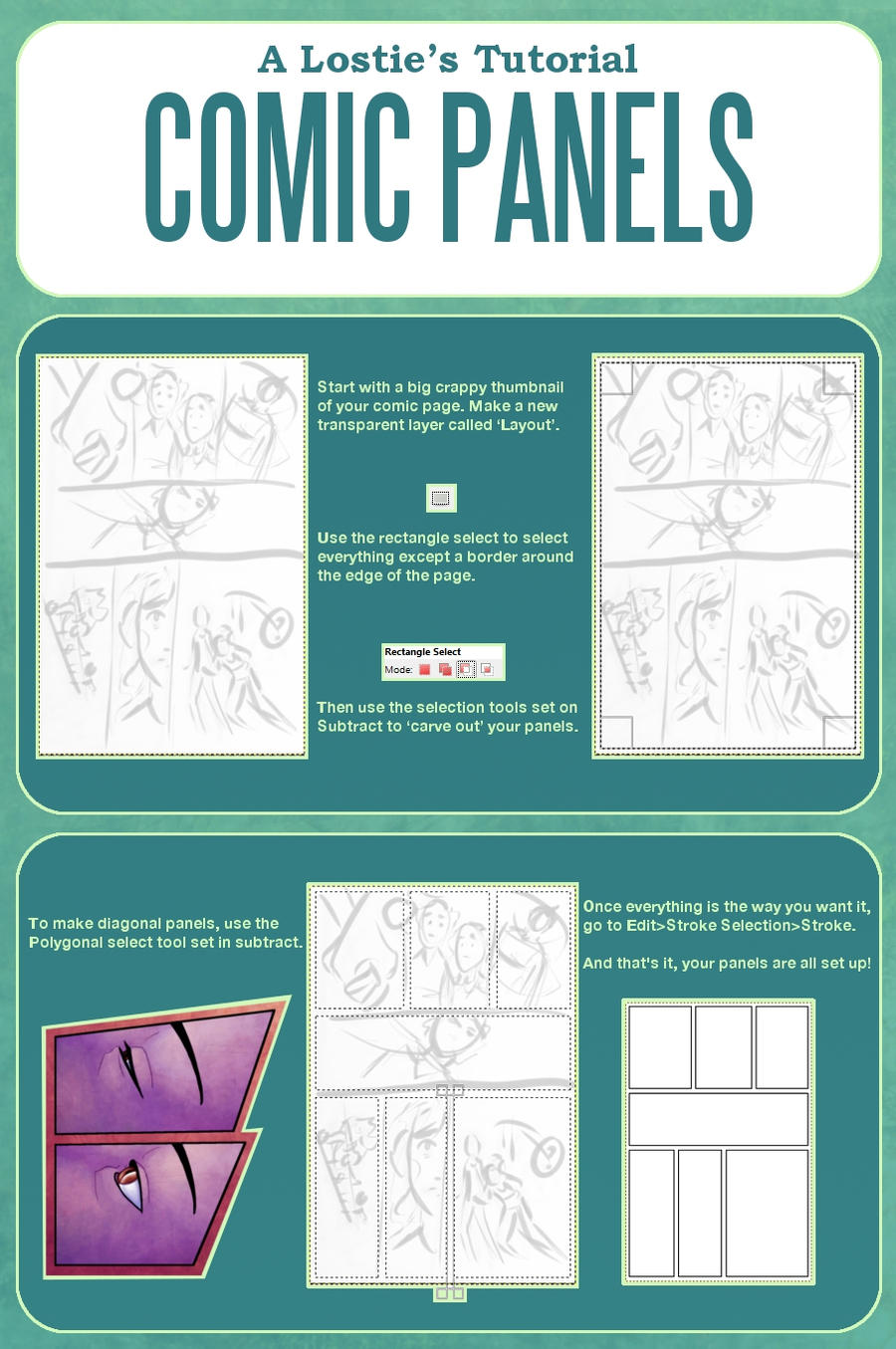 A Lostie's Tutorial - Comic Panels and Layouts by lostie815