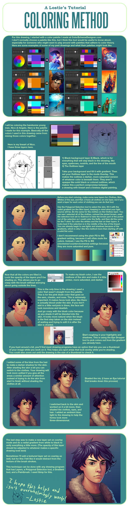 A Lostie's Tutorial - Coloring Method by LauraHollingsworth