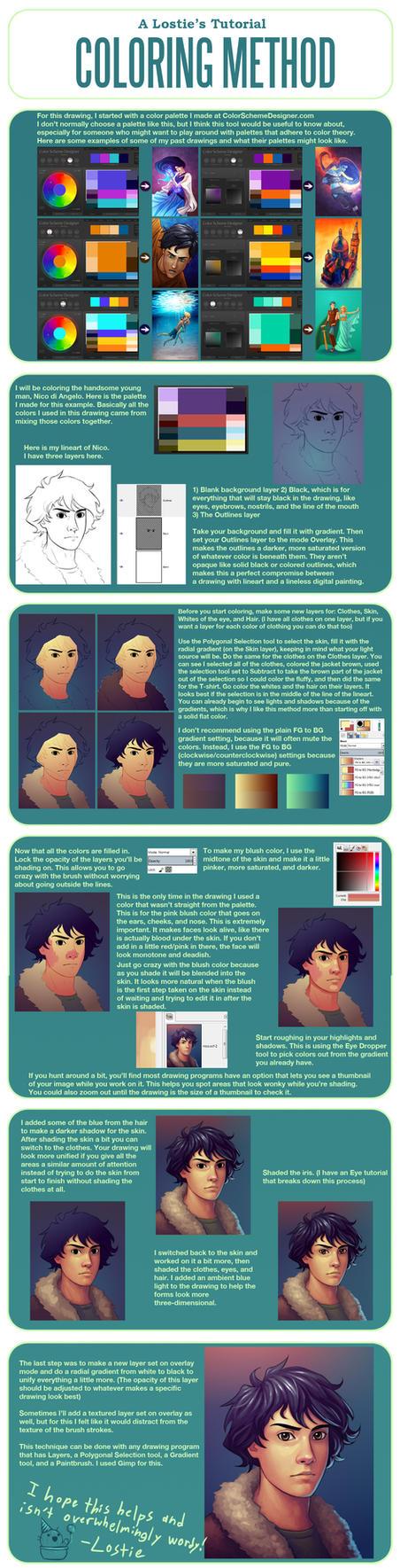 A Lostie's Tutorial - Coloring Method by lostie815