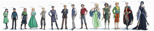 The Silver Eye - Characters Height Chart by LauraHollingsworth