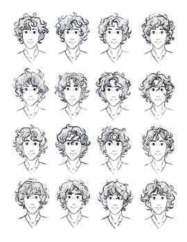 The Silver Eye - Enel Curly Hair Study