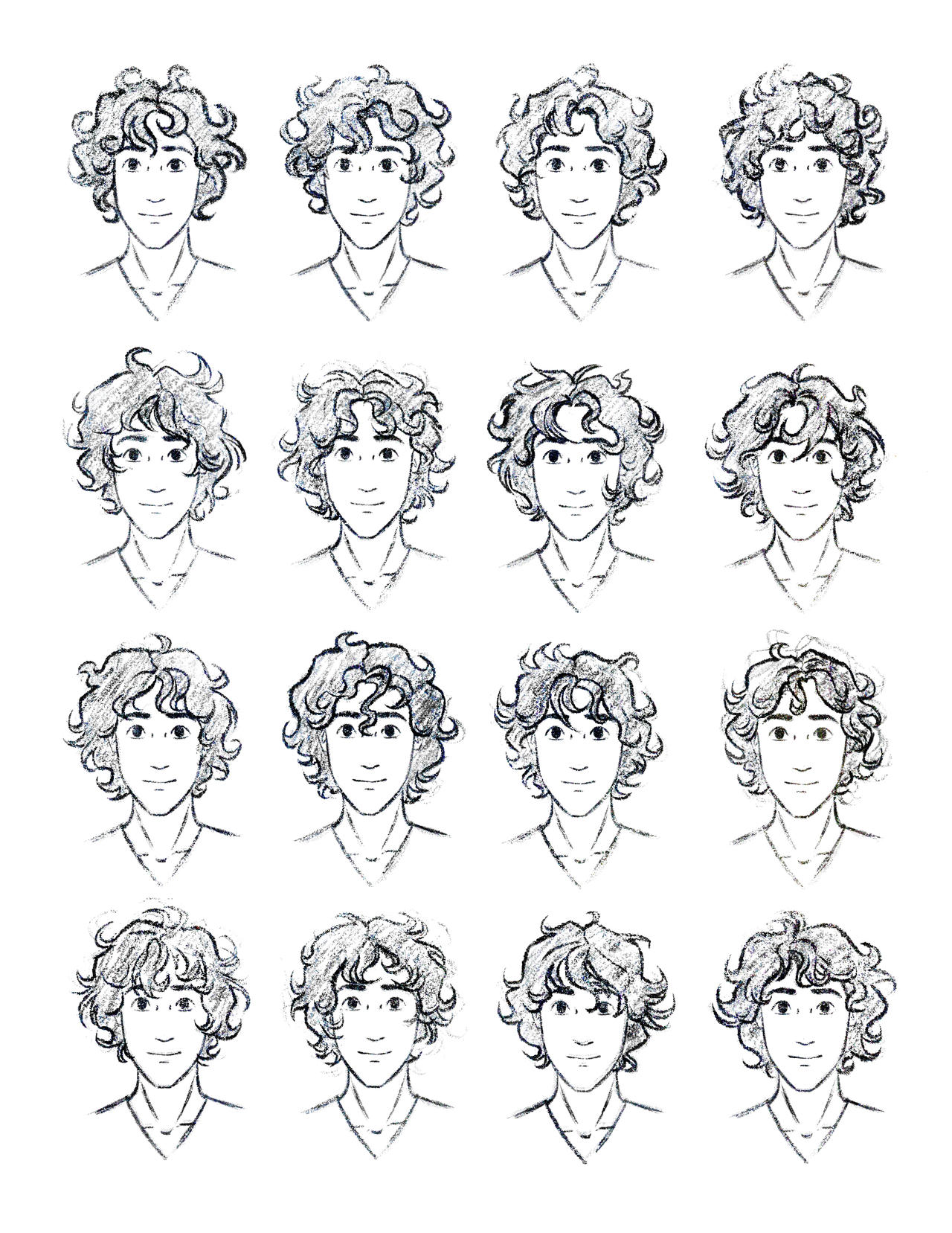 the silver eye enel curly hair study by lostie815 on