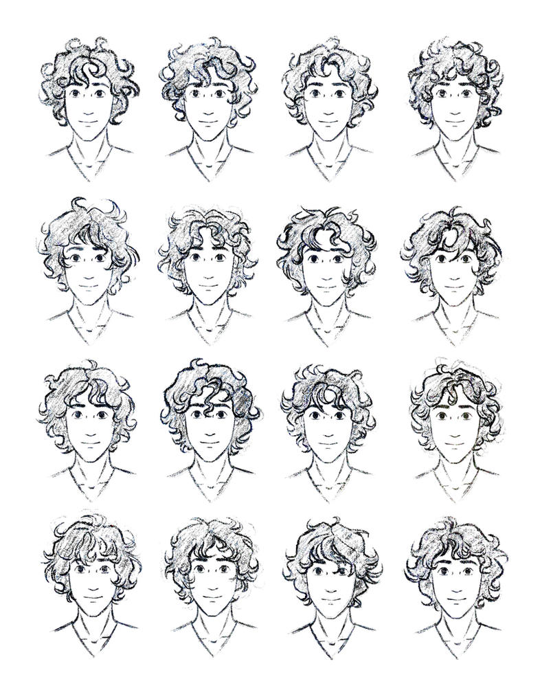The Silver Eye Enel Curly Hair Study By