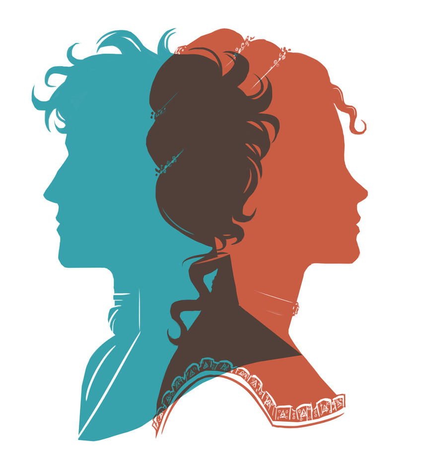 Luc and Perl Silhouette Portraits by LauraHollingsworth
