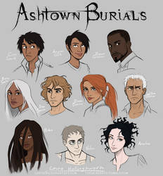 Ashtown Burials Characters Colored