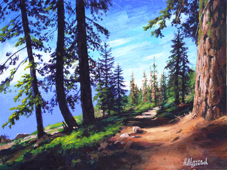 Acrylic Yosemite Painting