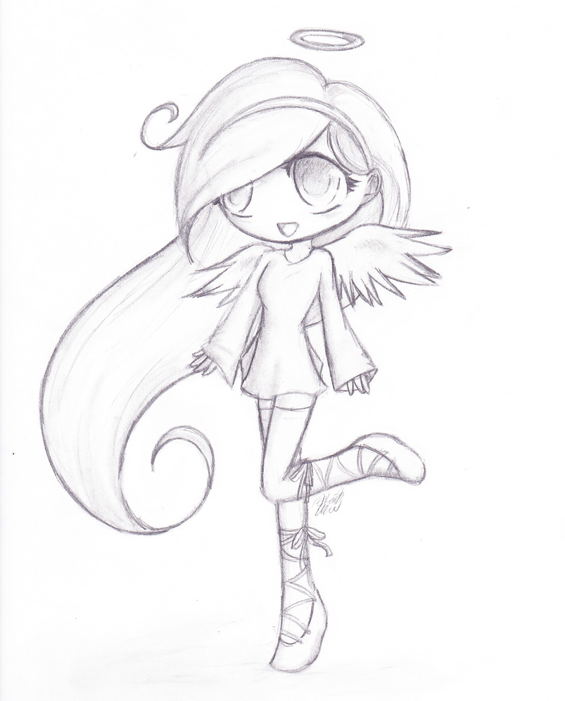 Cute chibi angel by Drae-Drae on DeviantArt