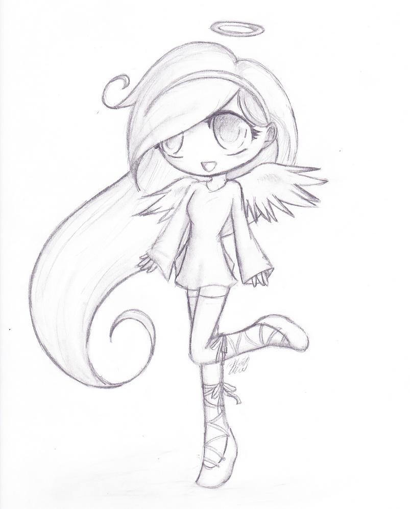 Cute chibi angel by Drae-Drae on DeviantArt