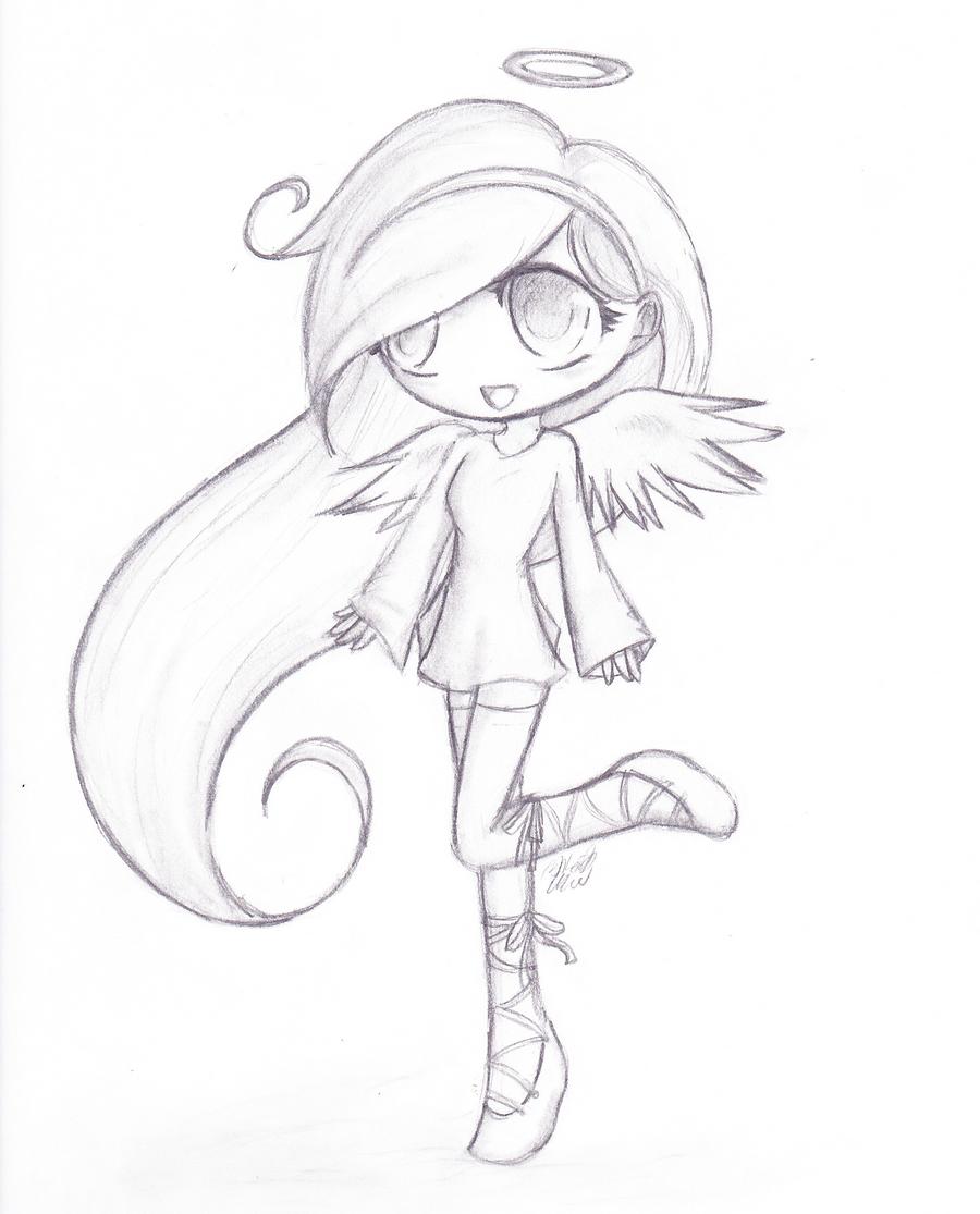 Cute Chibi Draw... Chibi Wolf Lineart