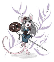 Mouse Warrior by NenijaDraws