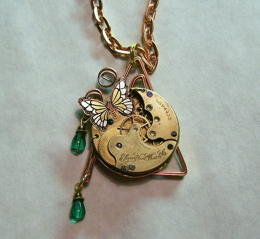 Watch Movement with Butterfly by mymysticgems