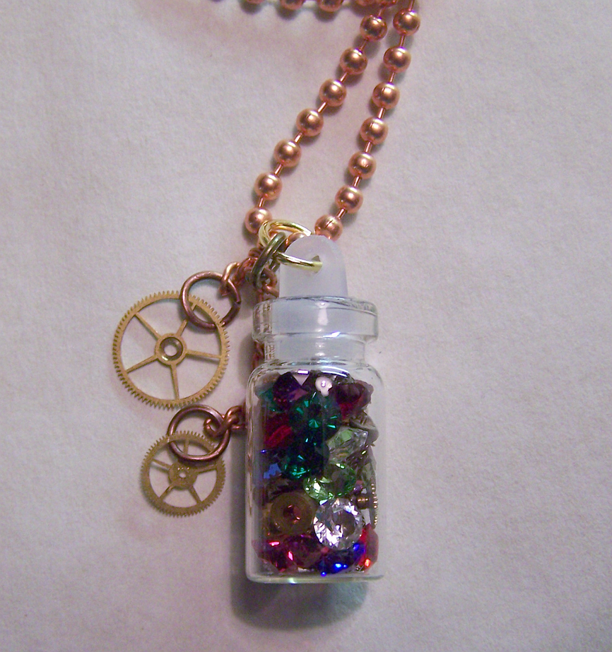 Steampunk Crystal Bottle by mymysticgems