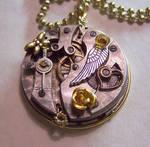 Gold Rose Watch Pendant