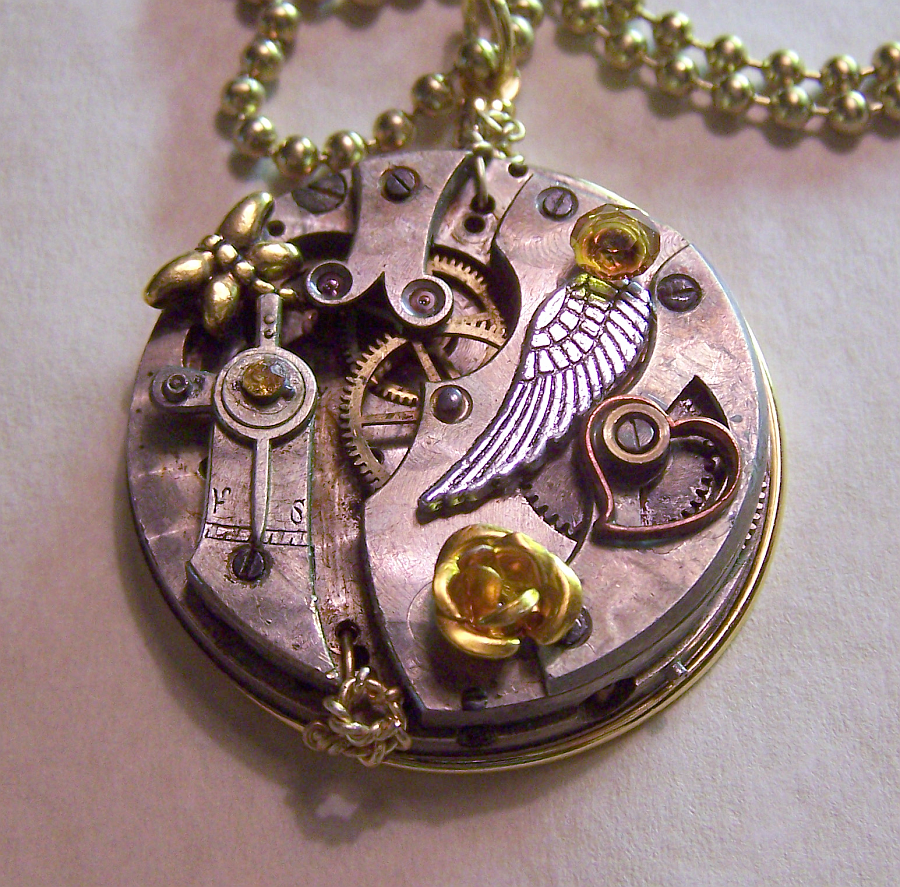 Gold rose watch pendant by mymysticgems on deviantart gold rose watch pendant by mymysticgems aloadofball Gallery