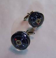 Black Compass Cufflinks by mymysticgems