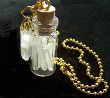Quartz Crystal Gem Bottle