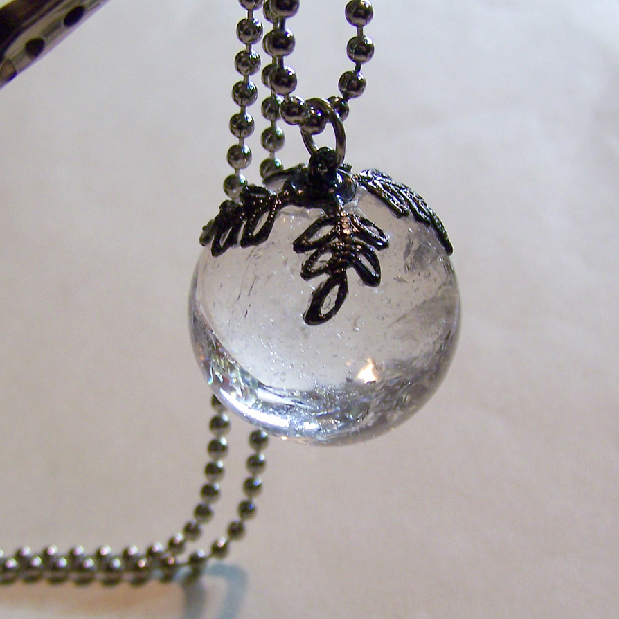 quartz pendant necklace ball pin crystal captive jewelry pinterest