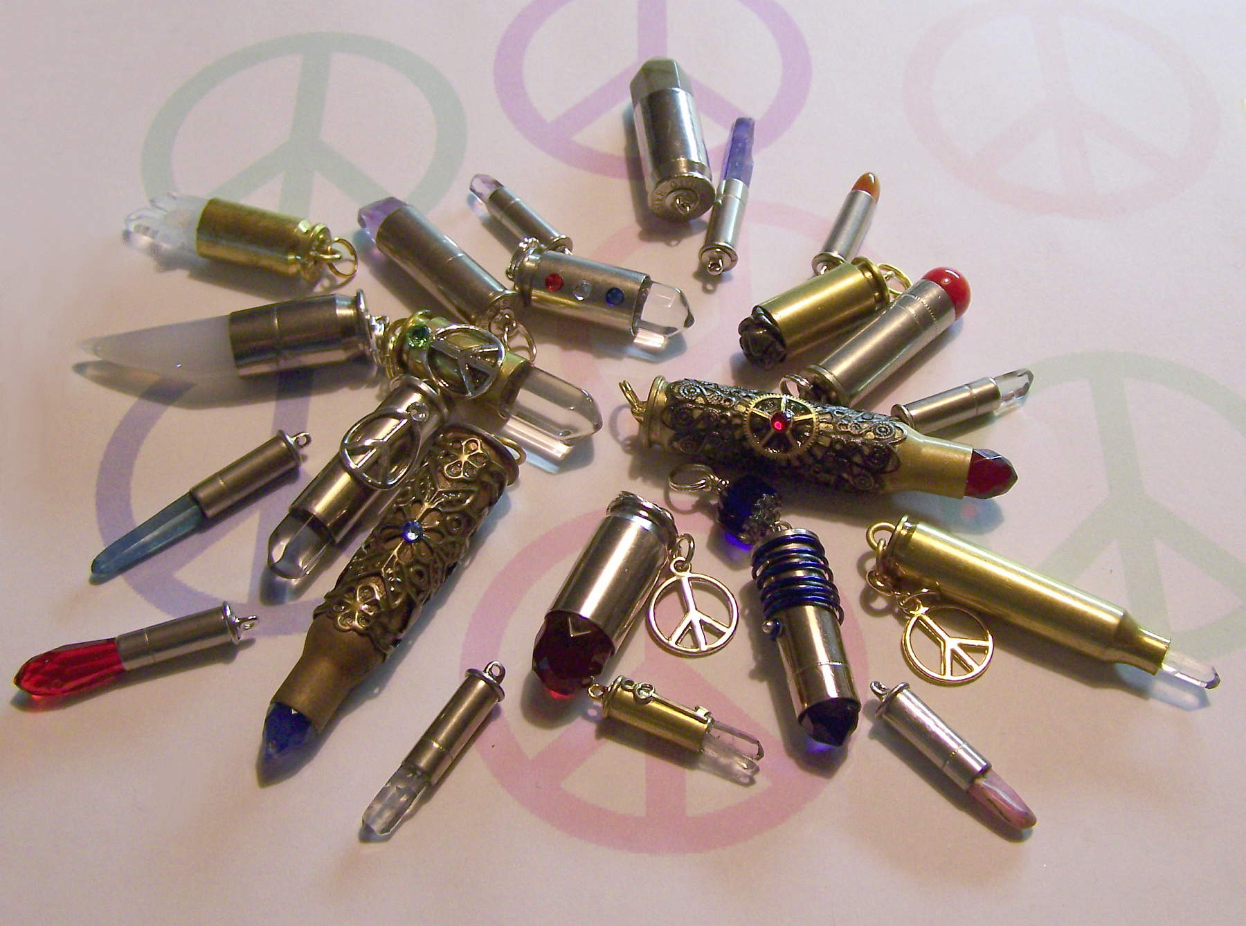 Beautiful Bullets for Symbol of Peace by mymysticgems