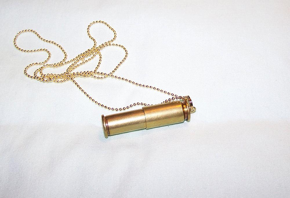 Brass Bullet Keepsake Pendant by mymysticgems