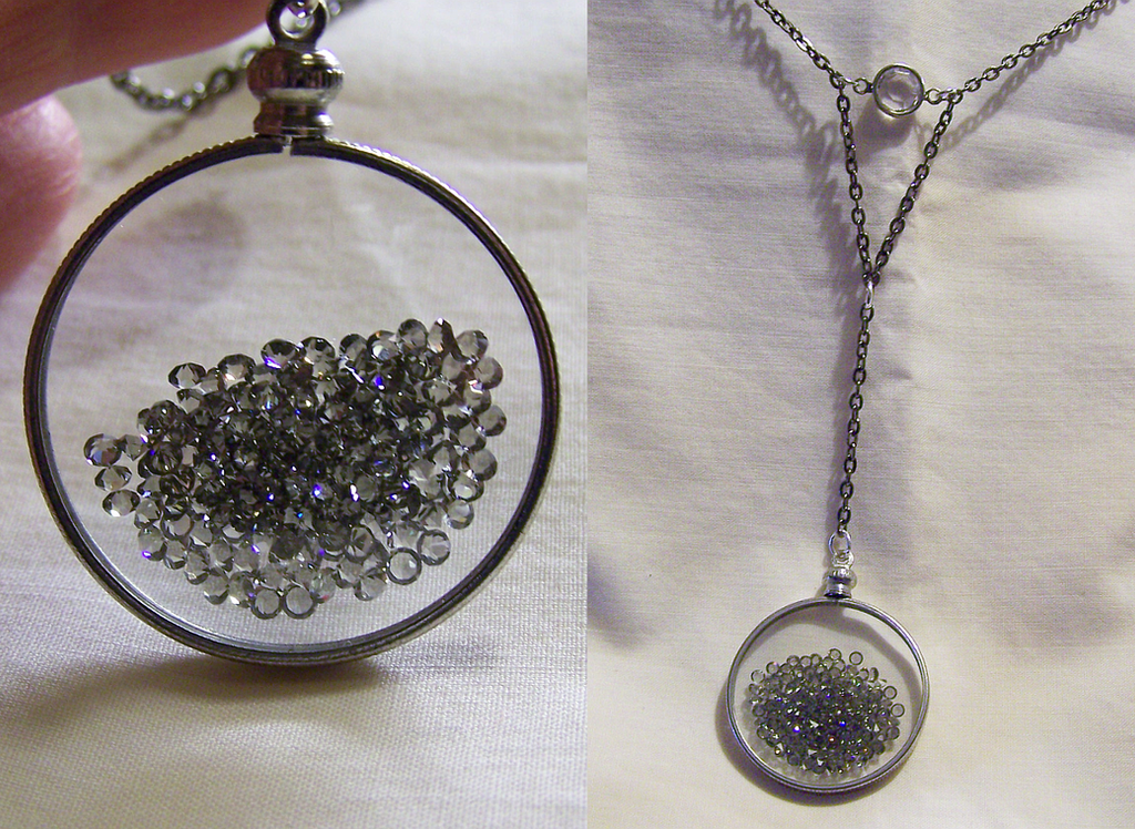 Floating crystals swarovski glass memory locket by mymysticgems on floating crystals swarovski glass memory locket by mymysticgems aloadofball Image collections