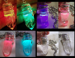 Color Changing LED Quartz Crystal Pendant