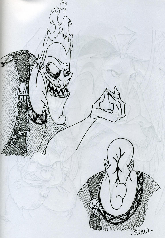 Hades sketch by DitaDiPolvere on deviantART