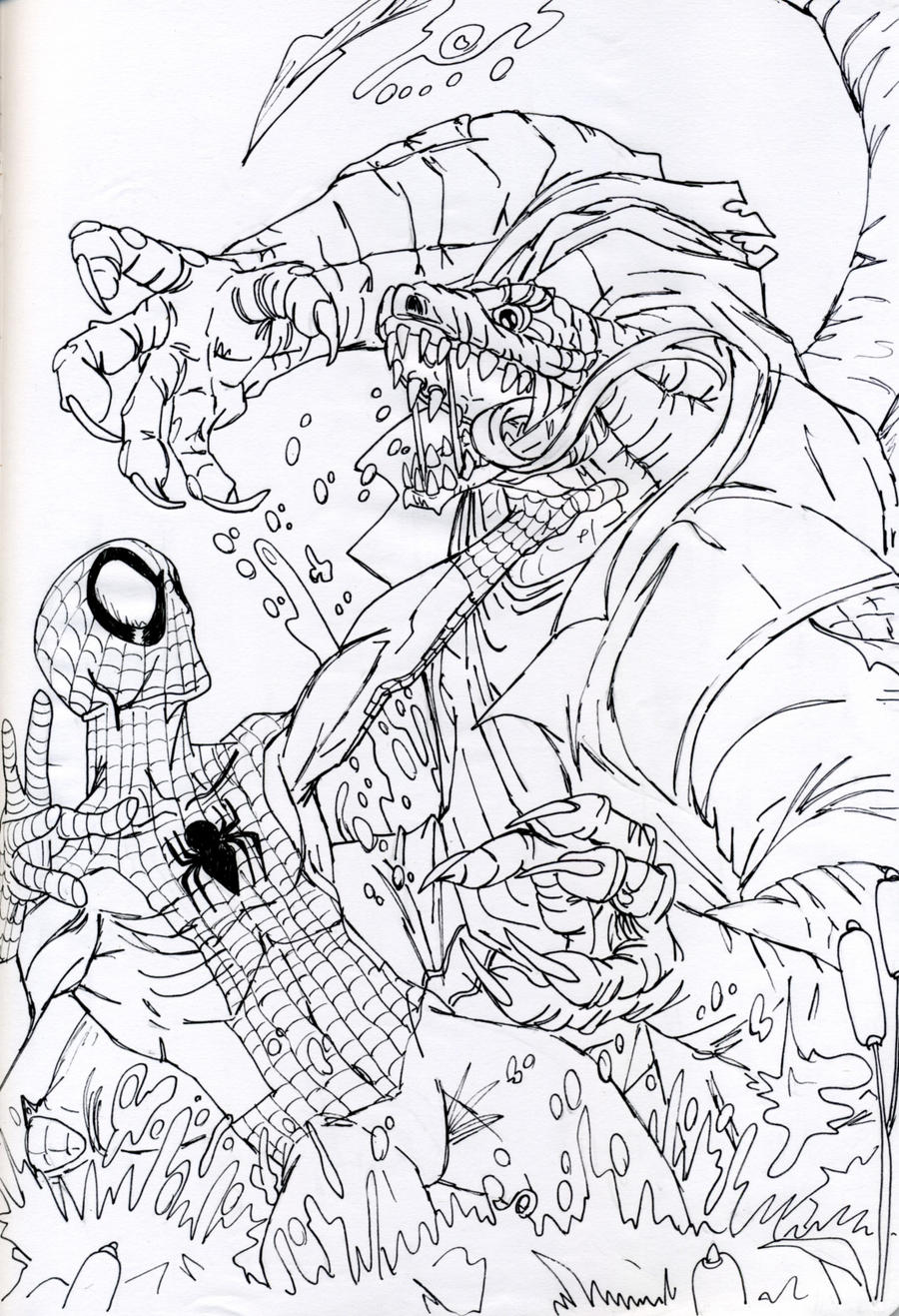 Spiderman vs Lizard by DitaDiPolvere on DeviantArt