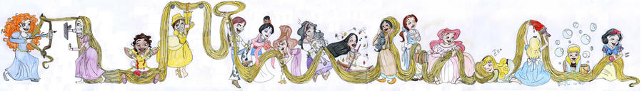 Princesses get tangled by DitaDiPolvere