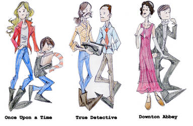 Tv Doodles: OUaT, True Detective, Downton Abbey by DitaDiPolvere