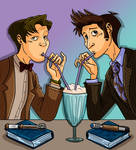 Two Doctors and a milkshake by DitaDiPolvere
