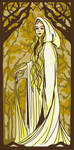 Mucha Style. Galadriel. by DitaDiPolvere
