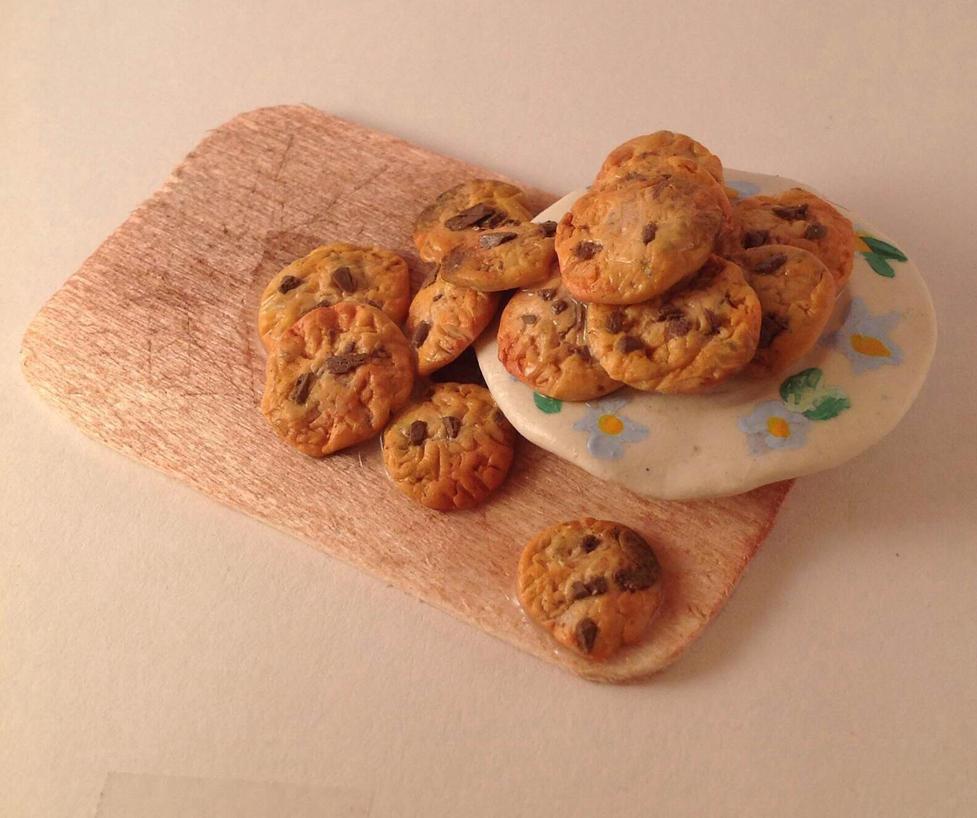 Miniature Chocolate Chip Cookies by TheMidnightParade