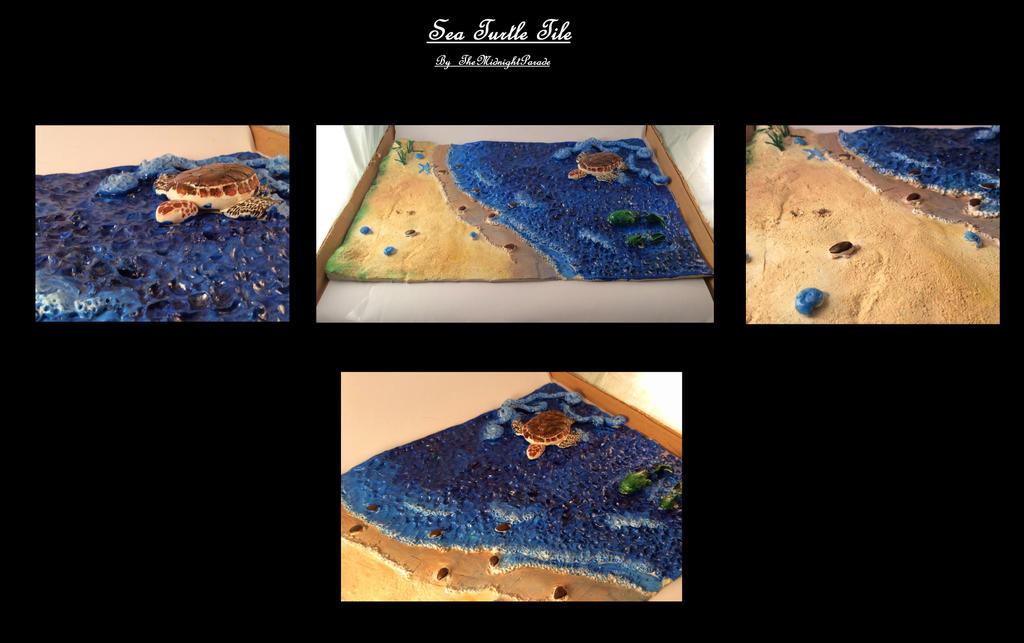 Sea Turtle Tile by TheMidnightParade
