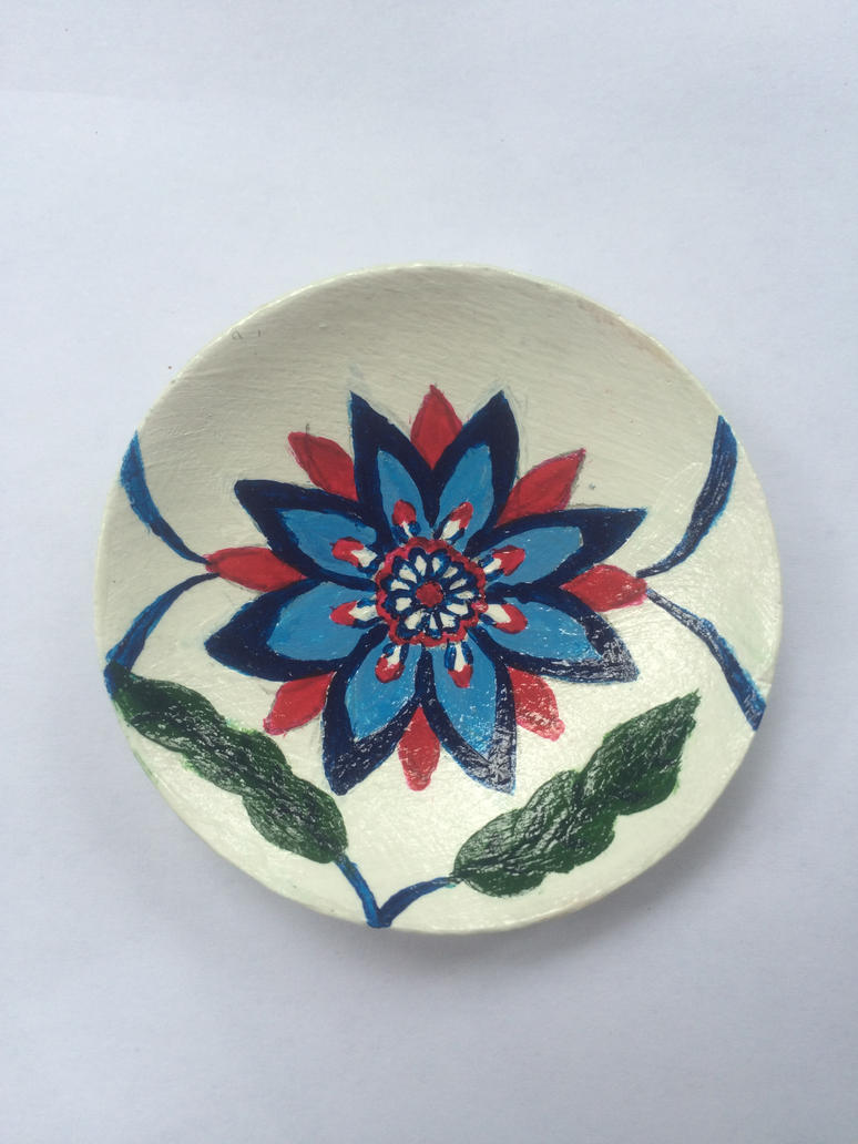 Wooden Turkish Floral Design Bowl by TheMidnightParade