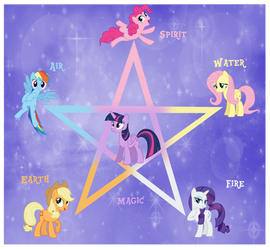 My Little Pony Pentagram by AndoAnimalia