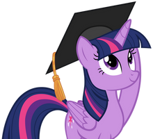 Twilight Sparkle Graduate by AndoAnimalia