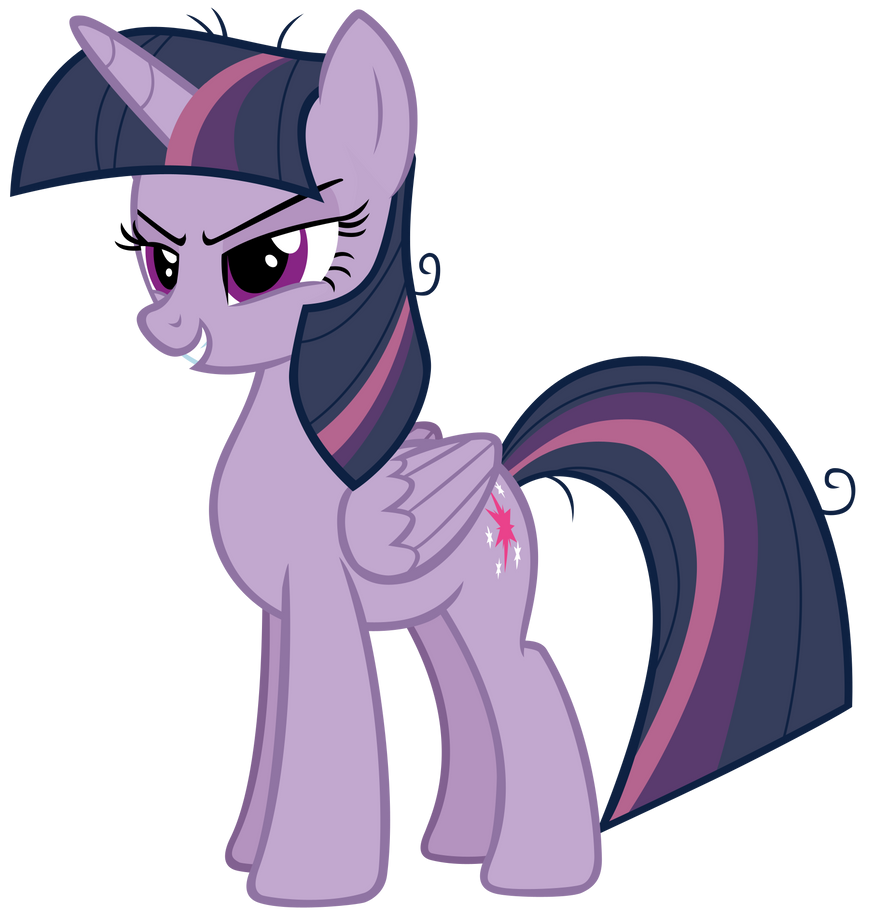 Mean Twilight Sparkle Smiling Evilly