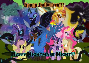 Happy Halloween and Nightmare Night 2018 by AndoAnimalia