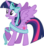 Twilight Sparkle Wrapped Up For Hearth's Warming