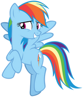 Rainbow Dash Smiling Embarrassed by AndoAnimalia
