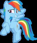 Rainbow Dash Smiling Embarrassed