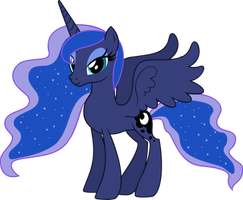 Princess Luna without Royal Regalia by AndoAnimalia