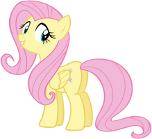 Fluttershy Looks From Over Her Shoulder by AndoAnimalia