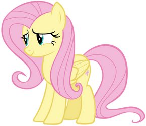Fluttershy Smiling Sweetly by AndoAnimalia