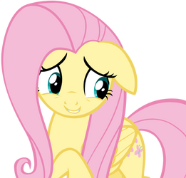 Fluttershy's Thinking About What She Has to Say by AndoAnimalia