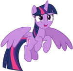 Twilight Sparkle Flying with Hope