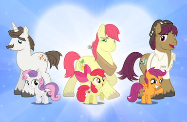 The Cutie Mark Crusaders and their Fathers