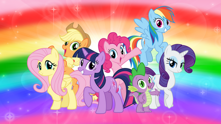 The Mane Six and Spike by AndoAnimalia
