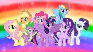 The Mane Seven and Spike 2