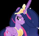 Queen Twilight Sparkle grinning sheepishly